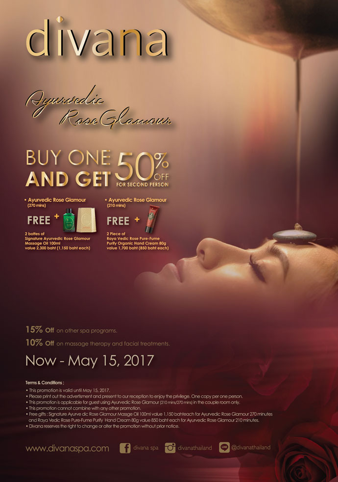 Promotion spa ayurvedic rose glamour divana for Divana nurture spa